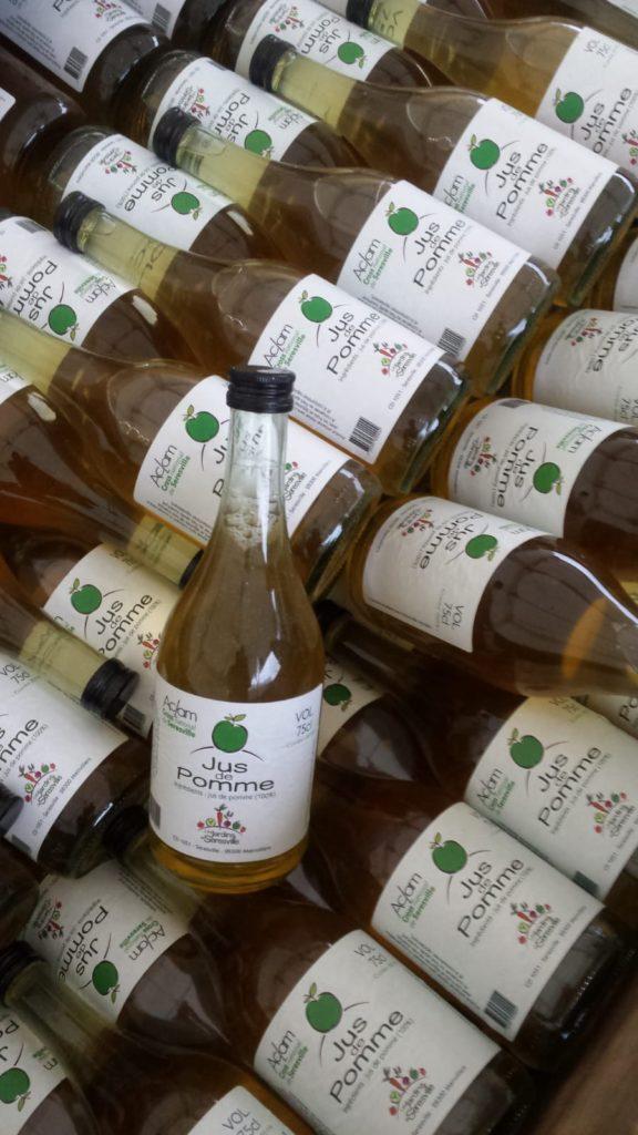 Le jus de pomme de la cueillette de Seresville (28300), offert à chaque concurrent ! Millésimé 2020 !